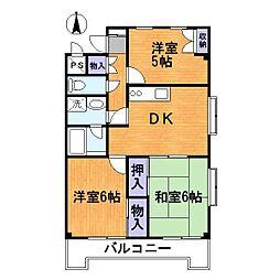 メゾンドエトワール[1階]の間取り