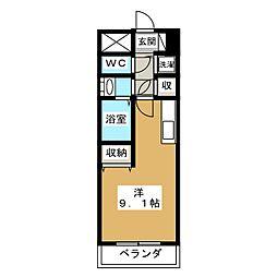 ファミネス上殿田[7階]の間取り