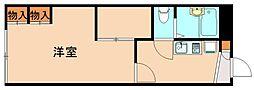 レオパレス飯塚[1階]の間取り