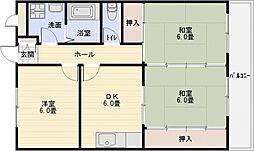 K's(カズ)ハウス[2階]の間取り