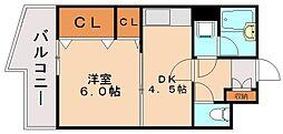 フォーラム博多駅南[3階]の間取り