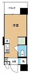 Hana House-Maejima 1階ワンルームの間取り