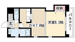愛知県名古屋市昭和区菊園町4丁目の賃貸マンションの間取り