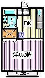 埼玉県さいたま市桜区西堀1丁目の賃貸アパートの間取り
