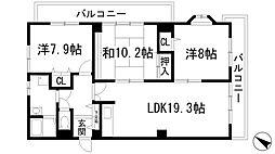 宝塚グリーンハイツ5号館[3階]の間取り