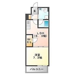 サンレムート江坂east[7階]の間取り