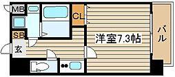 カスタリア新梅田[10階]の間取り