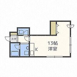 北海道札幌市中央区南六条西17丁目の賃貸マンションの間取り