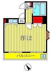 ジュネパレス新松戸第14[6階]の間取り