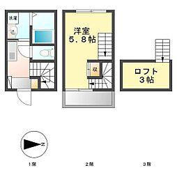 カーサフィッリョーラ(casa figliola)[107号室]の間取り