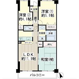 北寺尾大滝マンション[2階]の間取り