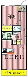 千葉県流山市松ケ丘2丁目の賃貸アパートの間取り