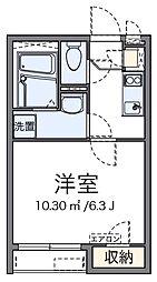神奈川県横浜市南区中島町2丁目の賃貸アパートの間取り