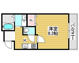 フジパレス堺三国ヶ丘2番館[3階]の間取り