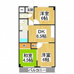 大阪府堺市中区陶器北の賃貸マンションの間取り