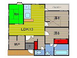 大杉様方アパート[2階]の間取り