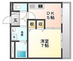 マンション国松[3階]の間取り
