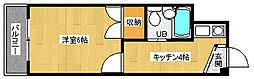 京都府京都市中京区壬生松原町の賃貸マンションの間取り