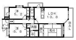 ヴェルデサコート桜ヶ丘[201号室号室]の間取り