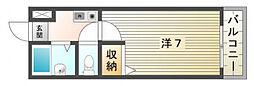 Mプラザ竜田通[4階]の間取り