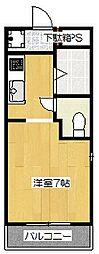 サンフェスタ東福寺 A棟[202号室]の間取り