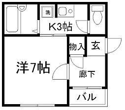 メゾンドM[1階]の間取り