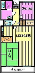 パークエイト戸田[3階]の間取り