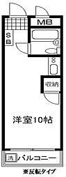 コスモ前野町コーポ[302号室]の間取り