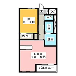 Sユニヴァリィ高塚町(仮)[3階]の間取り