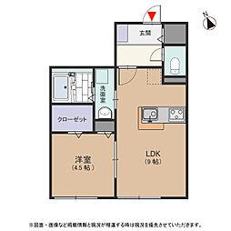 ベリテ神戸[2階]の間取り