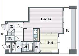 KDXレジデンス大濠ハーバービュータワー[13階]の間取り