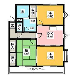サンヴィラ篠田[2階]の間取り