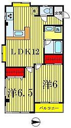 リバシティー1[3階]の間取り