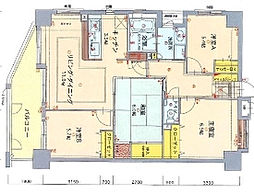 ロフティ城南セントラルタワー[1401号室]の間取り