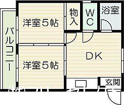 福岡県福岡市博多区麦野5丁目の賃貸マンションの間取り