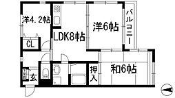 松本ハウス[2階]の間取り