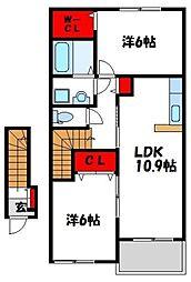 デイジーMⅢ[2階]の間取り