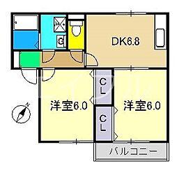 ジュパール I棟[1階]の間取り