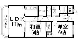 ファムール忍ヶ丘[0301号室]の間取り