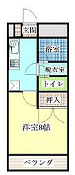 ハイツタカノII[2階]の間取り