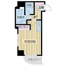 ライブコート北梅田[1501号室]の間取り