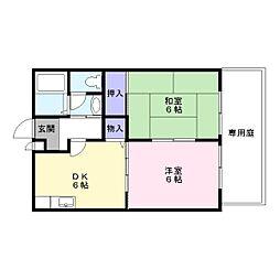 ハイツコンフォートI[1階]の間取り