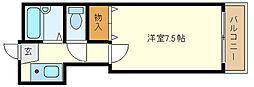 兵庫県明石市魚住町錦が丘2丁目の賃貸アパートの間取り