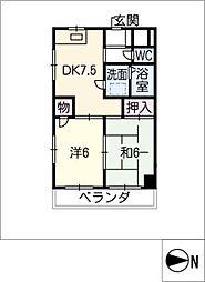 須原ビル[2階]の間取り
