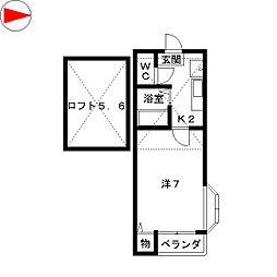 ドゥマンベルⅡ[2階]の間取り