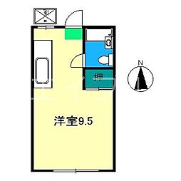 レスト吉田町[1階]の間取り