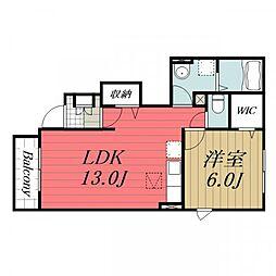 JR成田線 成田駅 バス20分 富里中学校下車 徒歩13分の賃貸アパート 1階1LDKの間取り