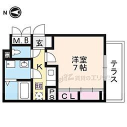 JR東海道・山陽本線 瀬田駅 徒歩13分の賃貸アパート 1階1Kの間取り