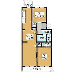 箱崎三丁目[5階]の間取り