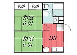 ドミール佐倉 E[1階]の間取り